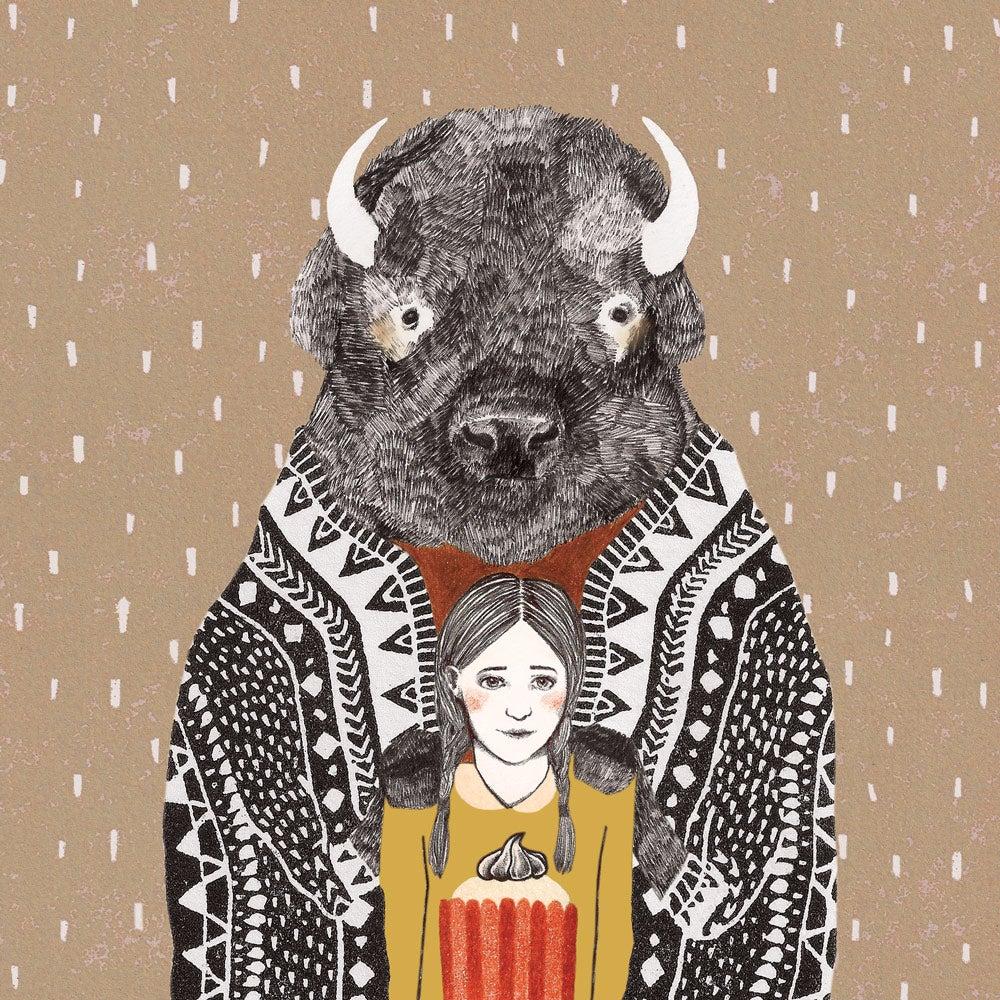 """Image of Carte postale """"Bison"""""""