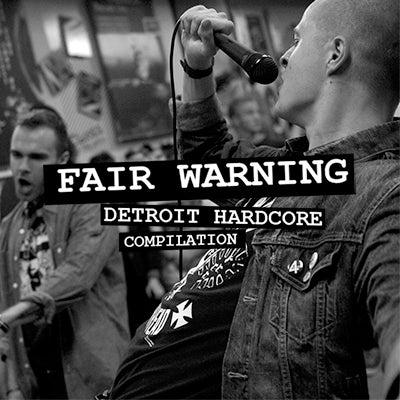 "Image of Fair Warning: Detroit Hardcore Compilation  7"""