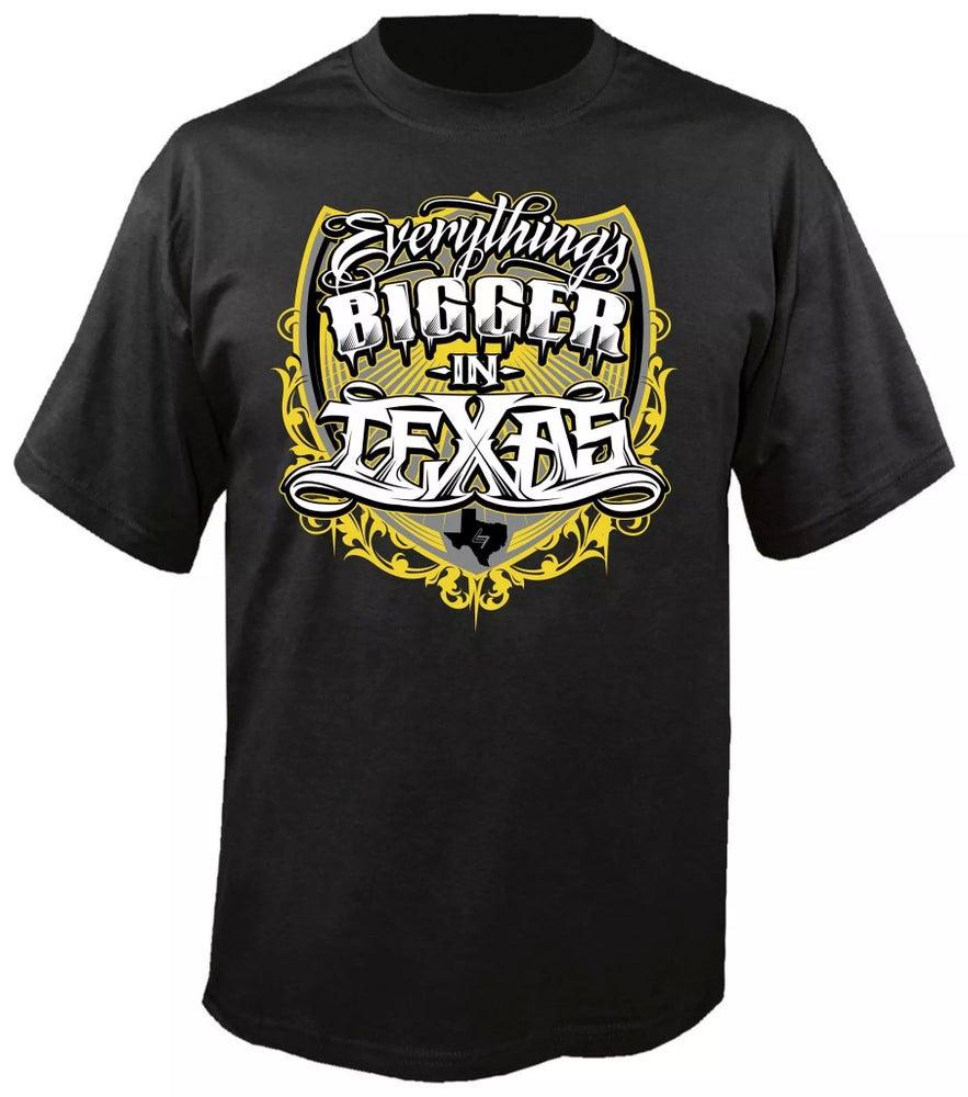 """Image of """"Bigger In Texas"""" Mens shirt"""
