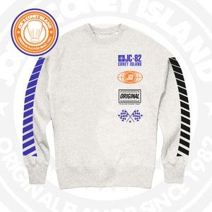 Image of JCI Sport Grey (Royal/Blk/Orange) Crewneck