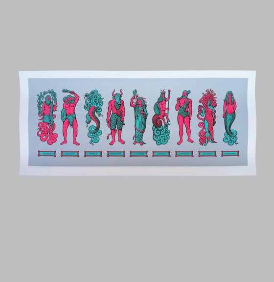 Image of Myth Monsters (pink/blue)