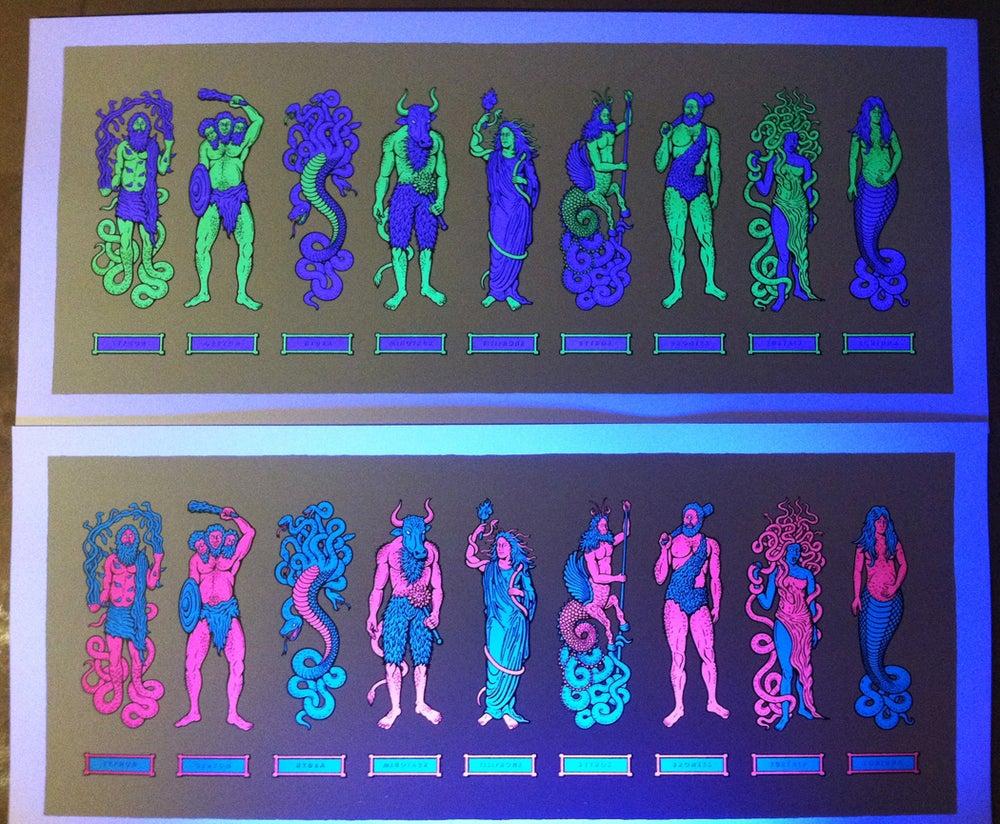 Image of Myth Monsters (purple/green)