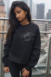 Image of Hand Heart Unisex Sweater