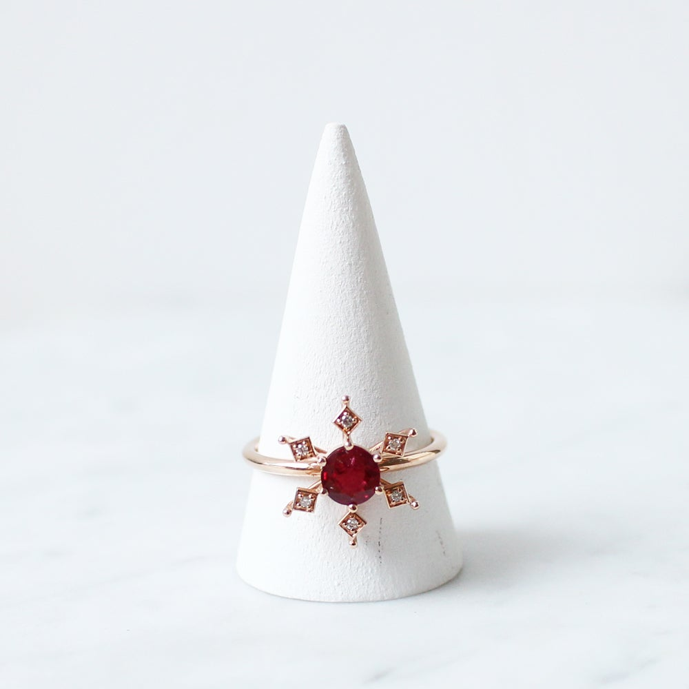 Image of Ruby Snowflake Ring