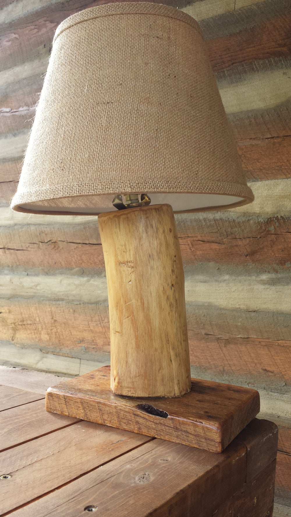 Image of Rustic table lamp