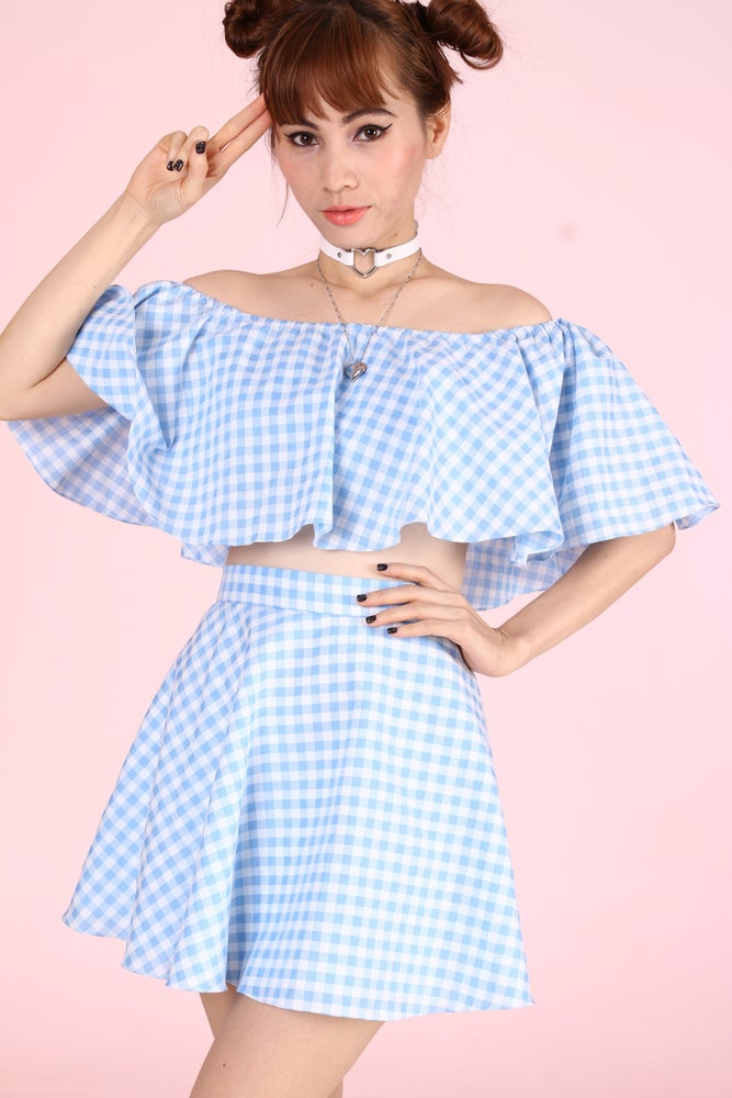 Image of Made To Order - Lolita Blue Gingham Set