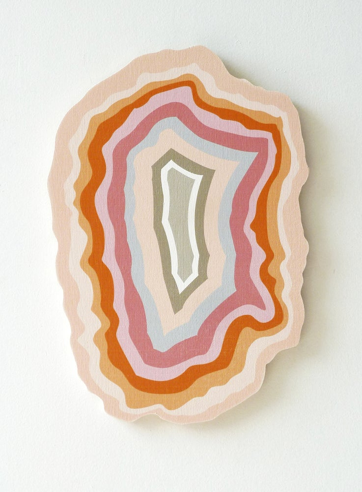 Image of PEACH CRYSTAL PLY WALL HANGING