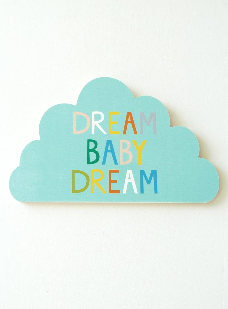Image of DREAM CLOUD PLY WALL HANGING (AQUA)