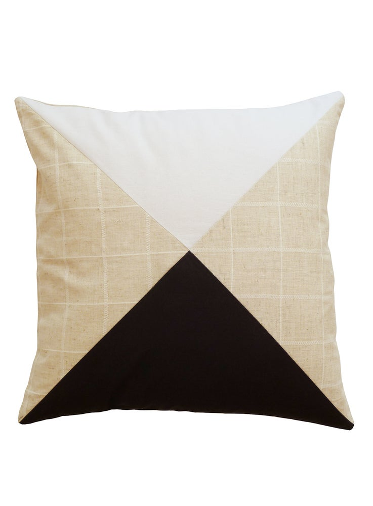 Image of BLACK/WHITE PATCHWORK CUSHION