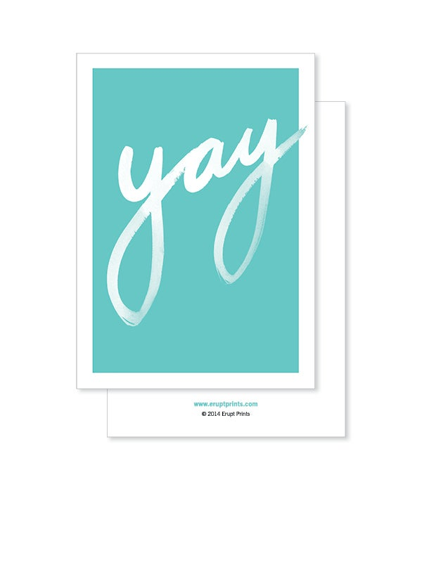 Image of Greeting Card - Yay - Teal