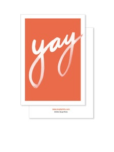 Image of Greeting Card - Yay - Coral