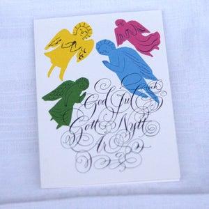 Image of Christmas card Julkort, änglar
