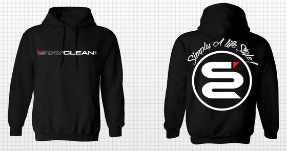 Image of iStayclean limited black pull over hoodie * LIMITED IN STOCK *