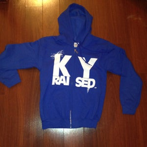 Image of KY Raised KY Blue & White Zip Hoodie