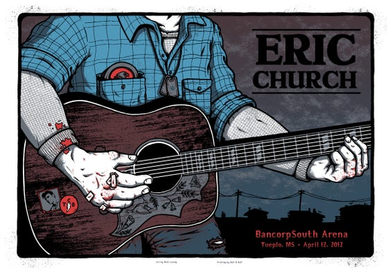 Image of ERIC CHURCH @ BANCORPSOUTH ARENA, MS - 2012