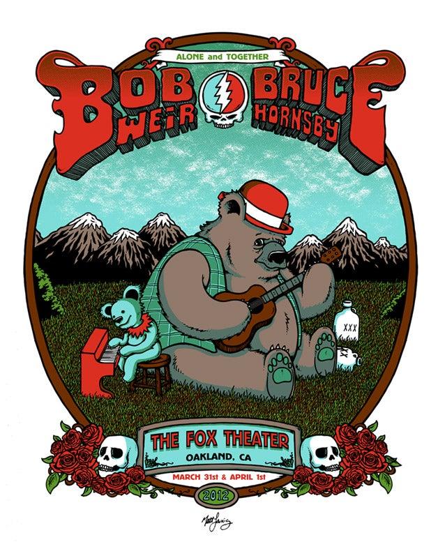 Image of BOB WEIR & BRUCE HORNSBY @ OAKLAND, CA - 2012