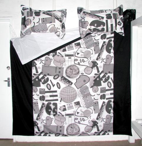 Image of Pareidolia Doona Cover - Greyscale