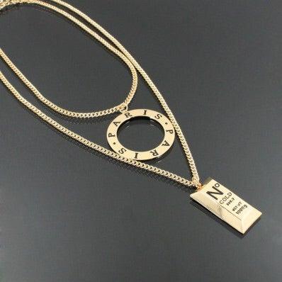 Image of PARIS GOLD BAR NECKLACE