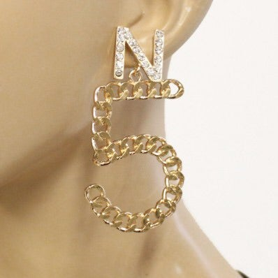 Image of NO 5 CHAIN EARRING