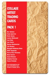 Image of Collage Artist Trading Cards, Pack One