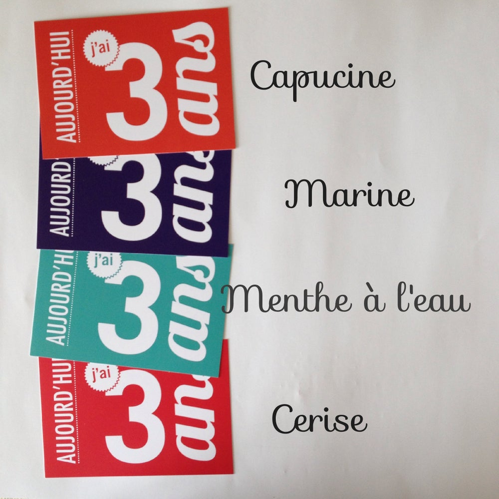 Image of 3 ans - Carte postale