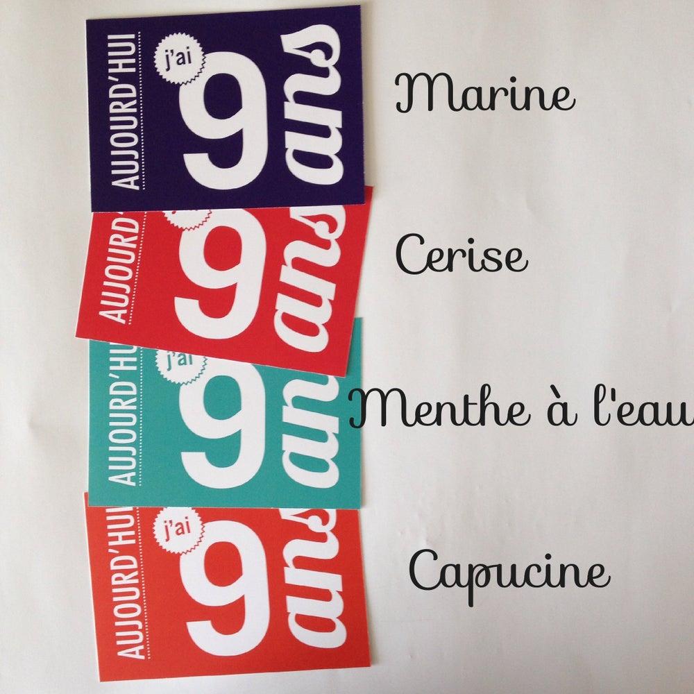 Image of 9 ans - Carte postale