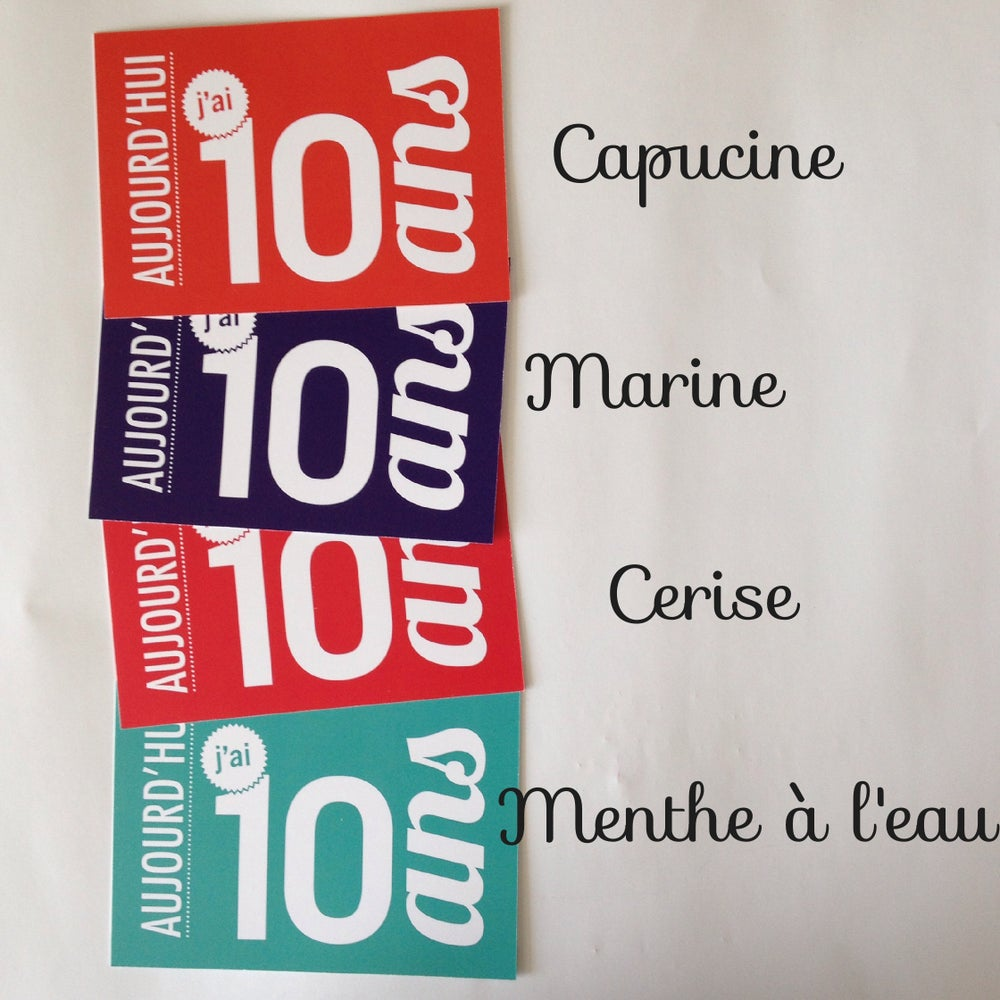 Image of 10 ans - Carte postale