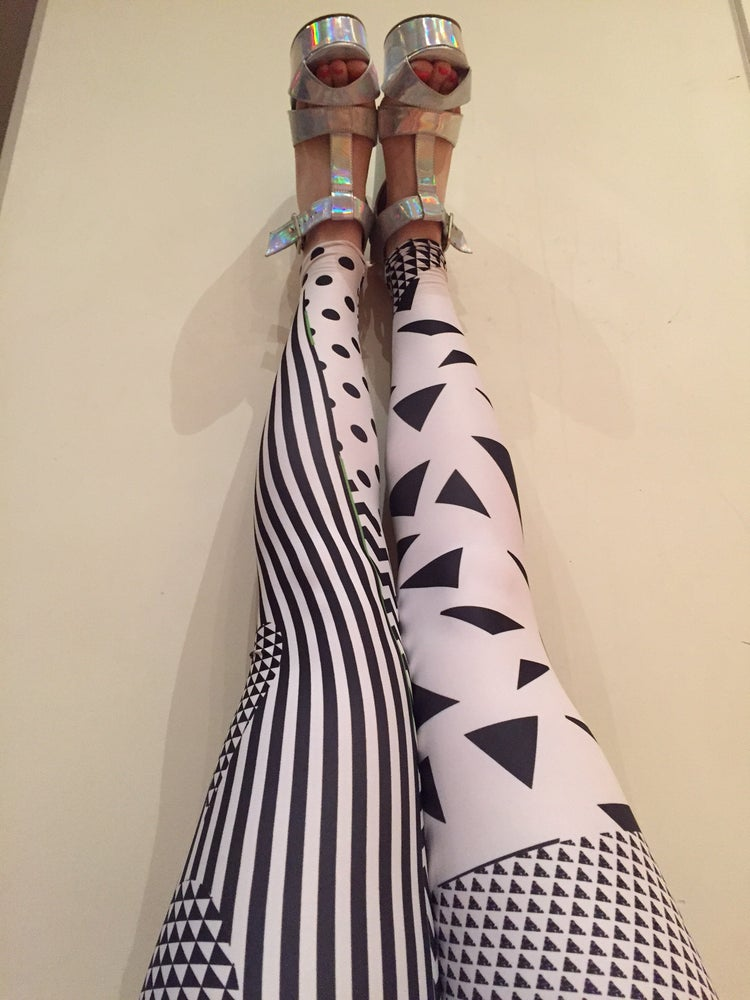 Image of 3 Kinds of Black N White Leggings