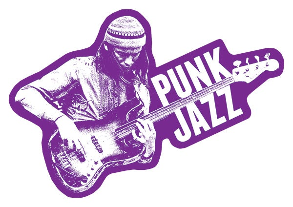 "Image of Jaco Pastorius ""Punk Jazz"" Sticker"