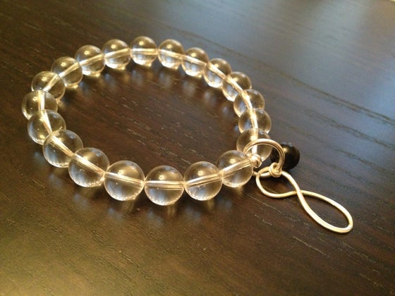 Image of Clear Quartz with Infinity