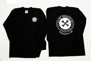 """Image of """"Kansas City"""" Long Sleeve T- Unisex (Black)"""