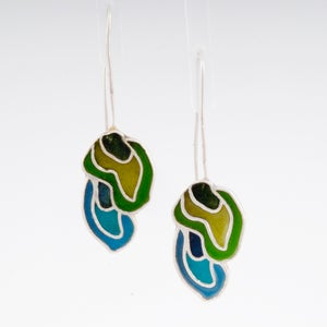 Image of Resinate Flow Earrings Blues