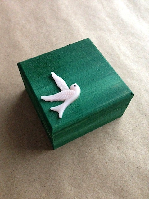 Image of Trinket Box - Swift (Dark Green)