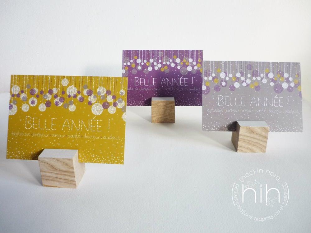 Image of 5 cartes de voeux ✳glitter✳ / gris taupe