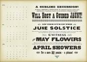 Image of April - May - June Single Poster