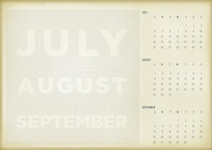 Image of July - August - September Single Poster