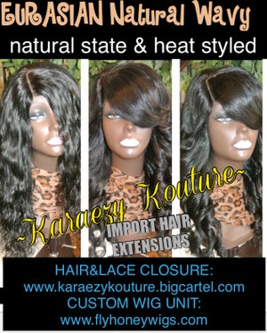 Image of Eurasian Natural Wavy *Silky Textured and Bleach Friendly*