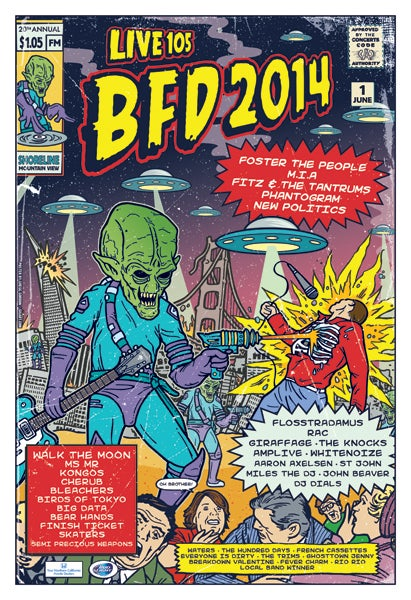 Image of Live 105 BFD 2014 Poster