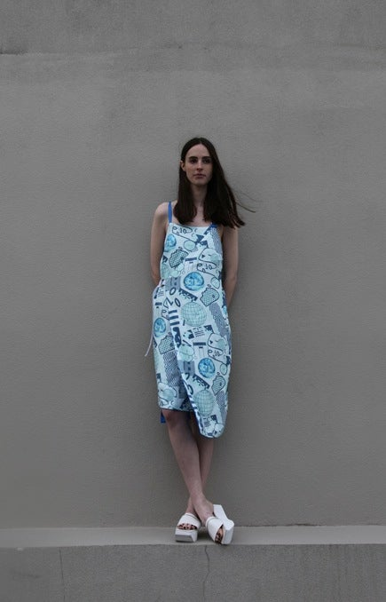 Image of Unity Wrap Dress (reversible) - Bluescale