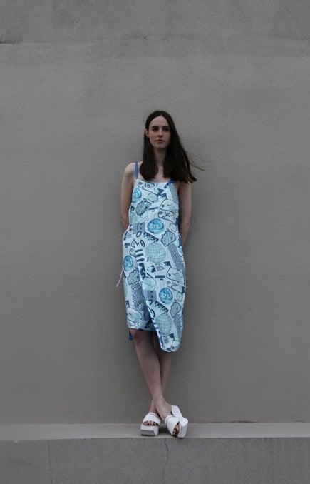 Image of Unity Wrap Dress (reversible) - Bluescale