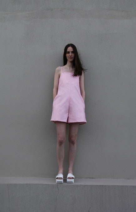 Image of Planet Playsuit - Baby pink