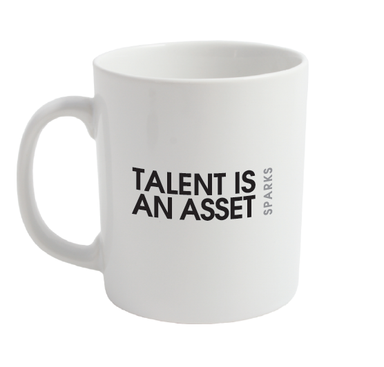 Image of Sparks Talent Is An Asset Lyric Mug