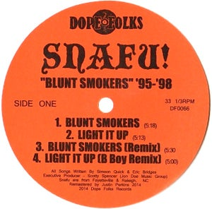 "Image of SNAFU!  ""BLUNT SMOKERS '95-'98"" EP"