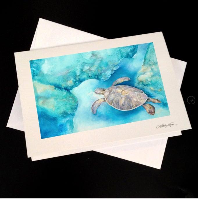 Image of Sea Turtle 5-Pack Greeting Card Set