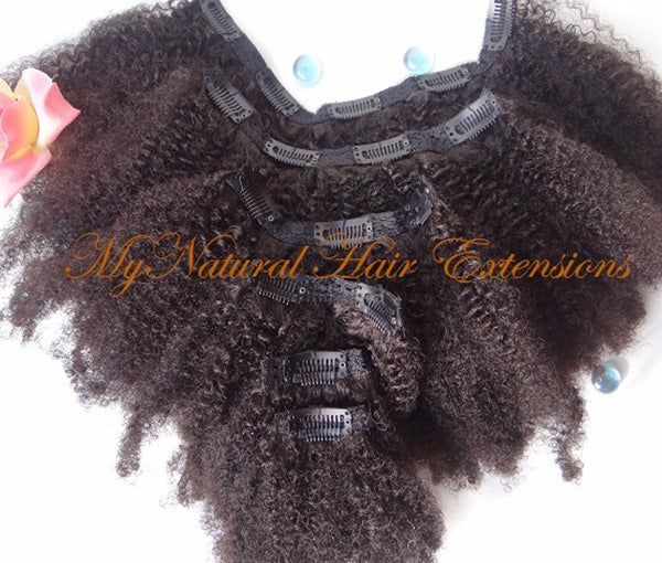 Image of Afro Kinky Clip In Extensions For Natural 4a 4b 4c Hair