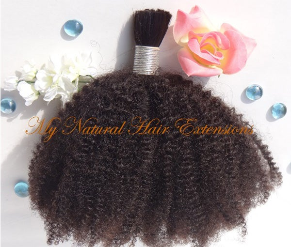 Image of Afro Kinky Curly Bulk Human Hair - 4C For Braiding