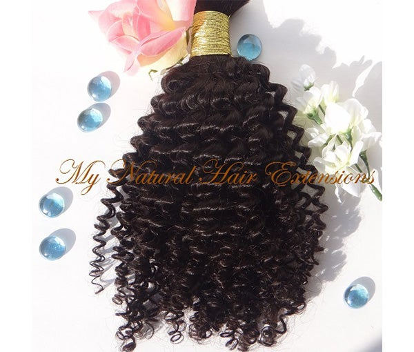 Image of Kinky Curly Bulk Hair - Braiding Hair