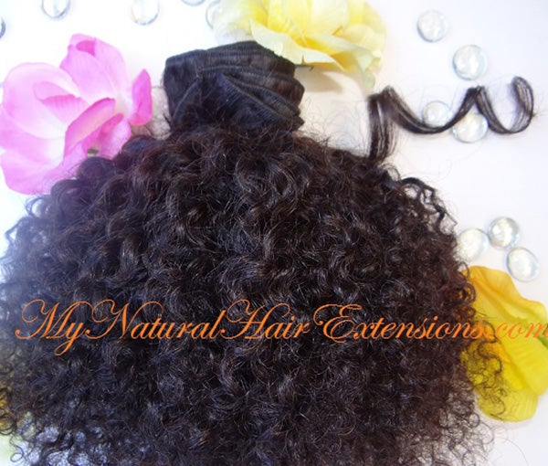 Image of Kinky Curly Weave - 3c 4a 4a 4b Natural Hair Types