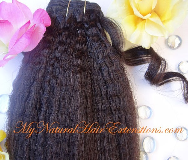 Image of Kinky Straight Human Hair - 3c 4c Natural  Hair