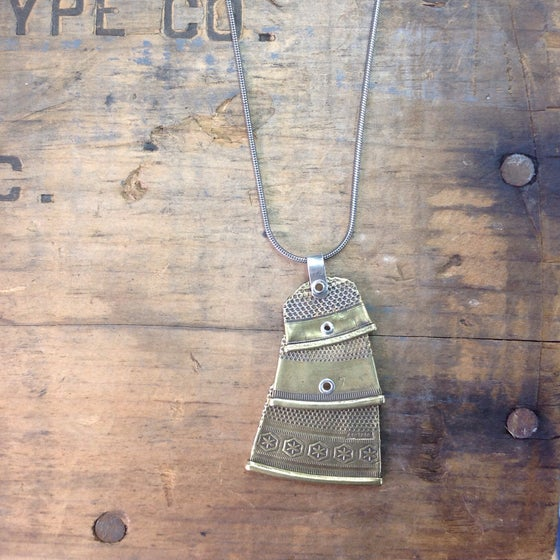 Image of thimble necklace
